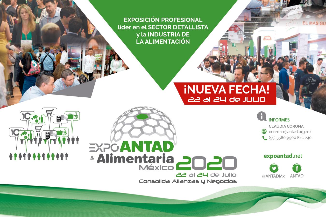 EXPO ANTAD & ALIMENTARIA MÉXICO 2020 SE REPROGRAMA